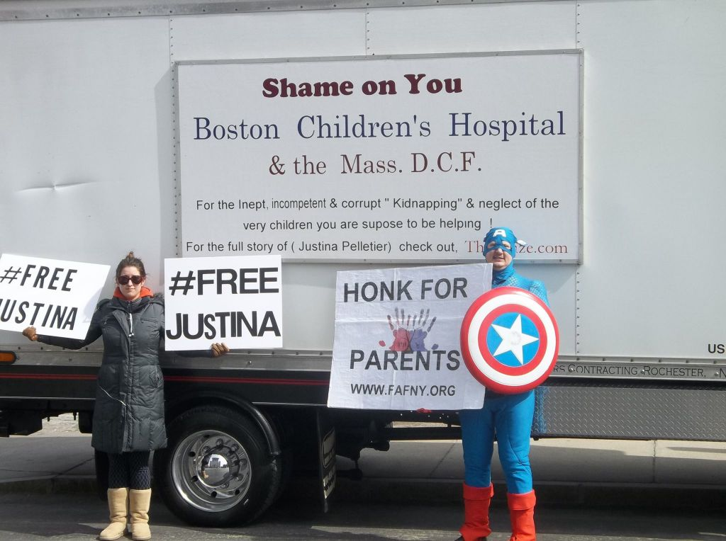 justina protest in boston
